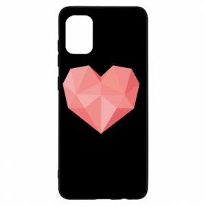 Etui na Samsung A31 Pink heart graphics