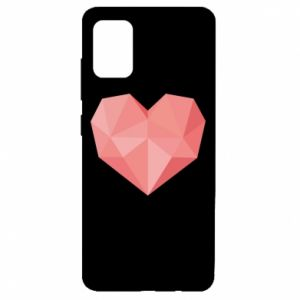 Etui na Samsung A51 Pink heart graphics