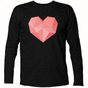 Long Sleeve T-shirt Pink heart graphics - PrintSalon