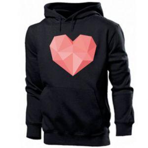 Bluza z kapturem męska Pink heart graphics