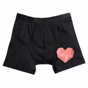 Boxer trunks Pink heart graphics