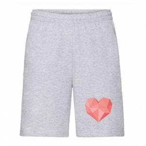 Szorty męskie Pink heart graphics
