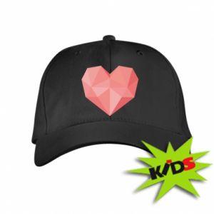 Czapeczka z daszkiem dziecięca Pink heart graphics