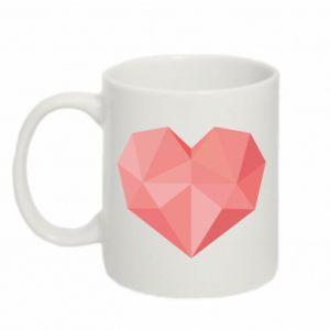 Kubek 330ml Pink heart graphics