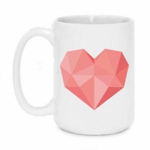 Mug 450ml Pink heart graphics - PrintSalon
