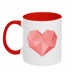 Two-toned mug Pink heart graphics - PrintSalon