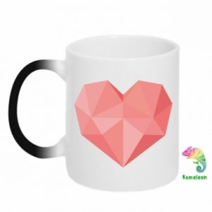 Kubek-kameleon Pink heart graphics