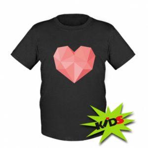 Koszulka dziecięca Pink heart graphics