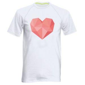 Koszulka sportowa męska Pink heart graphics