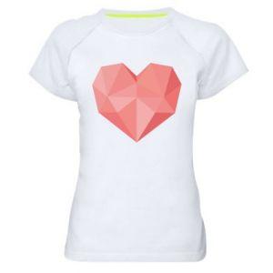 Koszulka sportowa damska Pink heart graphics