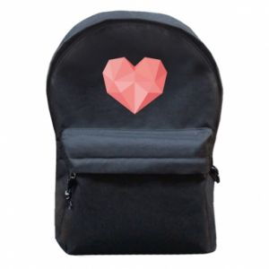 Plecak z przednią kieszenią Pink heart graphics