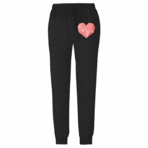 Spodnie lekkie męskie Pink heart graphics