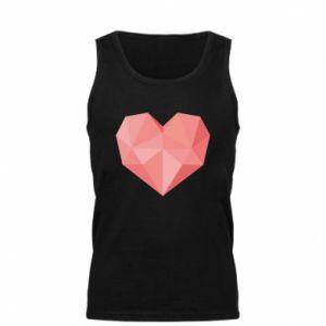 Men's t-shirt Pink heart graphics - PrintSalon