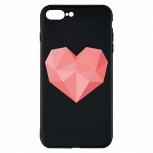 Etui na iPhone 8 Plus Pink heart graphics