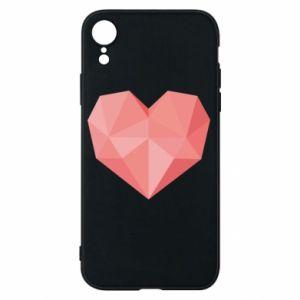 Etui na iPhone XR Pink heart graphics
