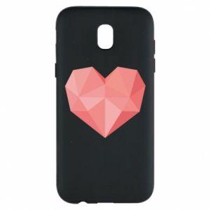 Etui na Samsung J5 2017 Pink heart graphics