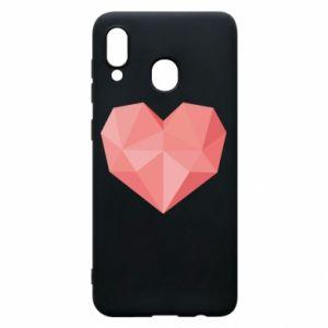 Etui na Samsung A30 Pink heart graphics