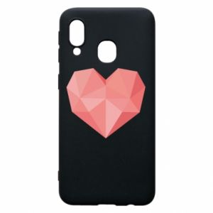 Etui na Samsung A40 Pink heart graphics
