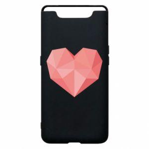 Etui na Samsung A80 Pink heart graphics