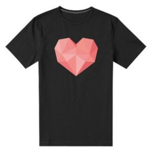 Men's premium t-shirt Pink heart graphics - PrintSalon