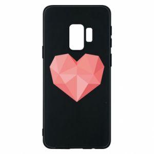 Etui na Samsung S9 Pink heart graphics