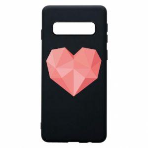 Etui na Samsung S10 Pink heart graphics