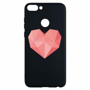 Phone case for Huawei P Smart Pink heart graphics - PrintSalon