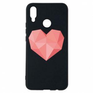 Etui na Huawei P Smart Plus Pink heart graphics