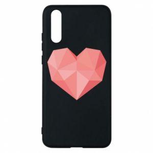 Etui na Huawei P20 Pink heart graphics