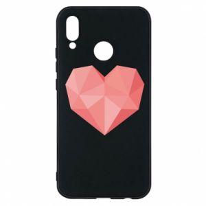Etui na Huawei P20 Lite Pink heart graphics