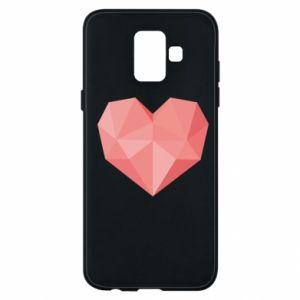Etui na Samsung A6 2018 Pink heart graphics