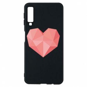 Etui na Samsung A7 2018 Pink heart graphics