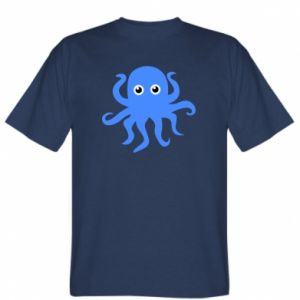 T-shirt Blue octopus - PrintSalon