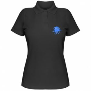 Women's Polo shirt Blue octopus - PrintSalon