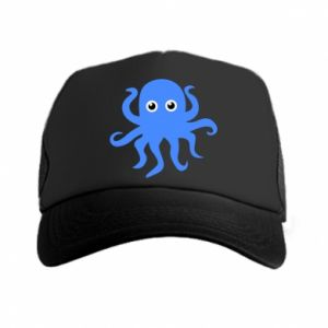 Trucker hat Blue octopus - PrintSalon