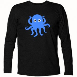 Long Sleeve T-shirt Blue octopus - PrintSalon