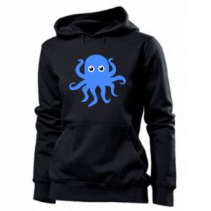 Women's hoodies Blue octopus - PrintSalon