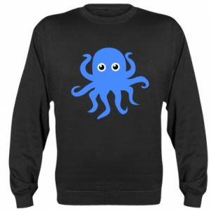 Sweatshirt Blue octopus - PrintSalon