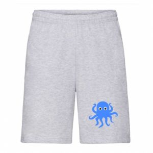 Men's shorts Blue octopus - PrintSalon