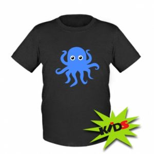 Kids T-shirt Blue octopus - PrintSalon