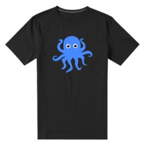 Men's premium t-shirt Blue octopus - PrintSalon