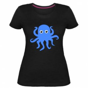 Women's premium t-shirt Blue octopus - PrintSalon