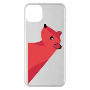 Phone case for iPhone 11 Pro Max Pink Mongoose - PrintSalon