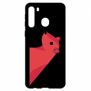 Etui na Samsung A21 Pink Mongoose