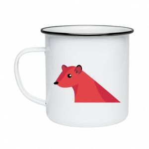Enameled mug Pink Mongoose - PrintSalon