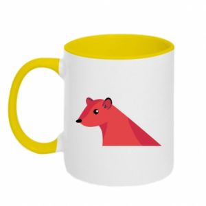 Two-toned mug Pink Mongoose - PrintSalon