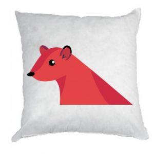 Pillow Pink Mongoose - PrintSalon