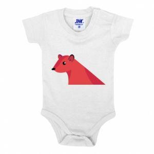 Baby bodysuit Pink Mongoose - PrintSalon