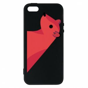 Phone case for iPhone 5/5S/SE Pink Mongoose - PrintSalon
