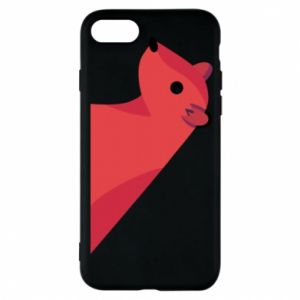 Phone case for iPhone 8 Pink Mongoose - PrintSalon
